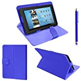 ZEETEK® **HIGH QUALITY 7 Inch Dark Blue Leather Folding Stand Case for ViewSonic ViewPad 7e + Free Stylus! **