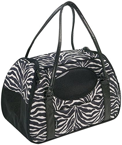 Gen7Pets Carry-Me Deluxe Zebra Pet Carrier for Cats and Small Dogs, Medium