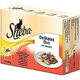 Sheba Delikates Duo Katzenfutter in Sauce, 48 Beutel (48 x 85 g)
