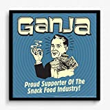BCreative Ganja Proud Supporter Of The Snack Food Industry (Officially Licensed) Framed Poster Small 13 X 13 Inches