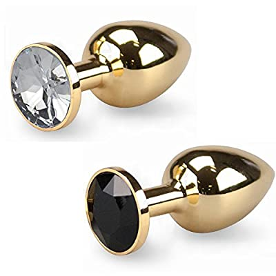 Sh! Small Gold Jewelled Butt Plug Little 2 x 1 Inch Luxury Metal Anal Toy