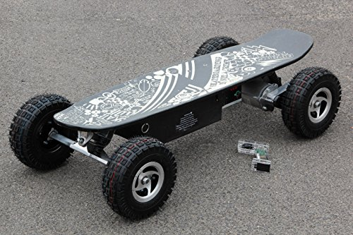 ELEKTRO-SKATEBOARD-OFF-ROAD-SCOOTER-BIKE-BOARD-800WATT-14AH-32KMH-NEU-Schwarz