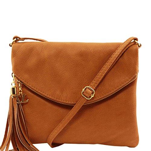 Tuscany Leather TL Young Bag - Borsa a tracolla con nappa Cognac Borse donna a tracolla