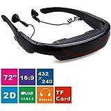"Excelvan Gafas de Video Virtual Portatil (NTSC, PAL, AV IN, 72"" Pulgadas de Pantalla QHD, Teatro individual, TV box, Playstaion)"