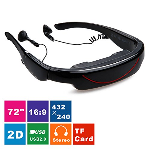 Buy Cheap Excelvan® 2014 HOT 72 Inch Virtual Digital Portable Video Glasses Personal Theater Widesc...