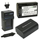 Wasabi Power Battery (2-Pack) and Charger for Sony NP-FV30, NP-FV40, NP-FV50 and Sony DCR-SR15, SR21, SR68, SR88, SX15, SX21, SX44, SX45, SX63, SX65, SX83, SX85, HDR-CX105, CX110, CX115, CX130, CX150, CX155, CX160, CX190, CX200, CX210, CX220, CX230, CX260V, CX290, CX300	, CX305, CX350V, CX360V, CX380, CX430V, CX520V, CX550V, CX560V, CX580V, CX700V, CX760V, HC9, PJ10, PJ30V, PJ50, PJ200, PJ230, PJ260V, PJ380, PJ430V, PJ580V, PJ650V, PJ710V, PJ760V, PJ790V, TD20V, TD30V, XR150, XR155, XR160, XR260V, XR350V, XR550V, HXR-NX30U, NX70U