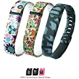 HAPPYCOCO Dot Polka Dots Style Replacement Band with Clasp for Fitbit Flex , Band only no tracker included