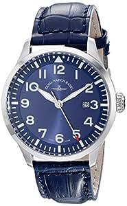 Zeno Men's 6569-515Q-A4 Navigator Blue Leather Strap Watch