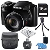 Canon PowerShot SX510 HS 12.1 MP CMOS Digital Camera with 30x Optical Zoom and 1080p Full-HD Video Premiere Bundle With 16GB Secure Digital High Capacity (SDHC) Memory Card, Digpro Compact Camera Deluxe Carrying Case, Extra Battery , Tripod