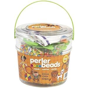Perler Beads 80-42849 Activity Bucket With 8,000 Beads - Circus