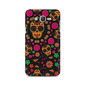 Motivatebox- Crazy Abstract Skull Samsung Galaxy J2 2016 edition cover -Matte Polycarbonate 3D Hard case Mobile Cell Phone Protective BACK CASE COVER. Hard Shockproof Scratch-