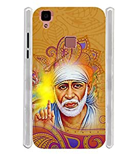 Lord Shirdi Sai Baba Sab Ka Malik Ek Soft Silicon Rubberized Back Case Cover for Vivo V3