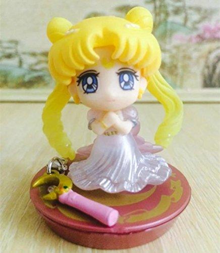 Rosy Women Sailor Moon Tsukino Usagi Q Version 20Th Anniversary Pvc Action Figure 10Cm Collectible Model Toy Fga1041
