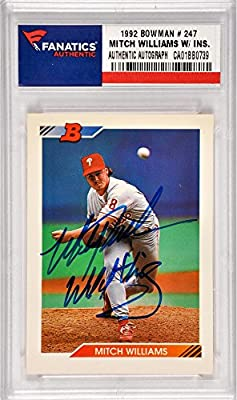 Mitch Williams Philadelphia Phillies Autographed 1992 Bowman #247 Card with Wild Thing Inscription - Fanatics Authentic Certified