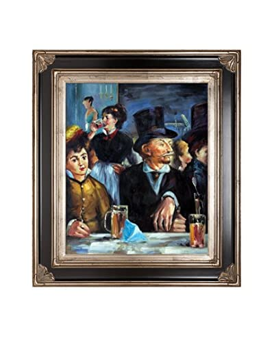 Edouard Manet's Cafe Concert Framed Hand Painted Oil on Canvas, Multi, 34″ x 30″