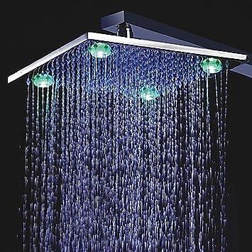 10-Zoll-Farbwechsel LED Duschkopf mit 4 LED-Leuchten:Baumarkt - us20