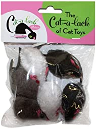 Cat-A-Lack 6-Piece Mice Balls for Pets, 2-Inch
