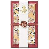 学研ステイフル ご祝儀袋 金封 鶴と桜 レッド E50026