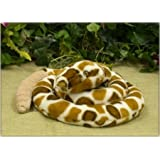 "Wishpets 70"" Curling Rattle Snake Plush Toy With Rattle"