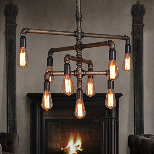 Industrial foyer lighting make a statement in your Industrial style chandeliers