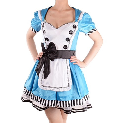 Alice in Wonderland Costume Women Adult Alice Cosplay Fantasias Halloween Party