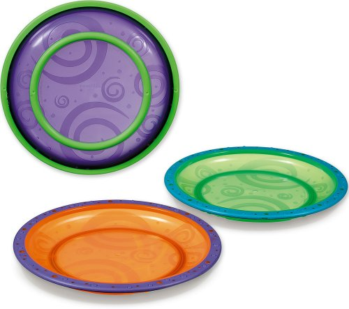 Munchkin 3 Pack Toddler Plate, Colors May Vary