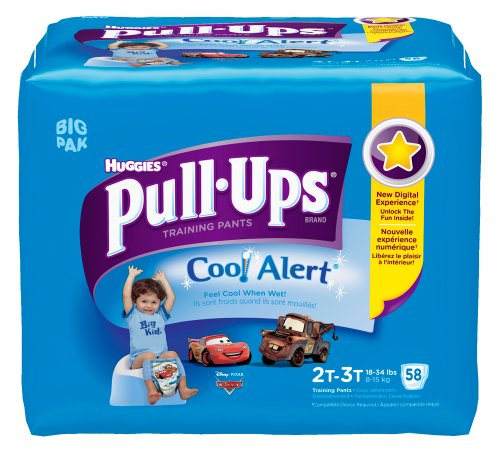 Pull-Ups Training Pants with Cool Alert, Boys, 2T-3T, 58 Count