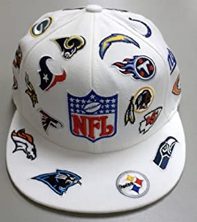 Amazon.com : NFL Collage All Over Team Embroidered Fitted Hat 7 1 ...