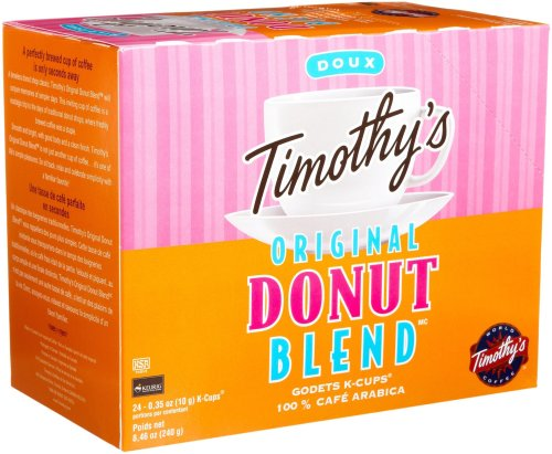 Timothy's World Coffee, Original Donut Blend, 24-Count K-Cups for Keurig Brewers (Pack of 2)