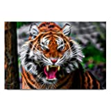 Bluegape Ray Creatives Tiger Poster, Brown