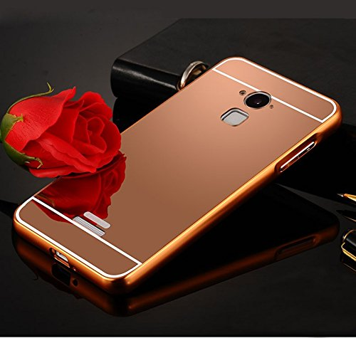 sports shoes aa89c 7bf5f D-kandy Aluminum Metal Bumper with PC Mirror Back Cover Case For Coolpad  Note 3 Plus - ROSE GOLD