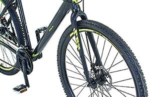 REXBike Jungen Mountainbike REX Alu-Cross Hardtail 28 Zoll Bergsteiger 6.3, schwarz matt, 52, 51476-3111 from REXBike