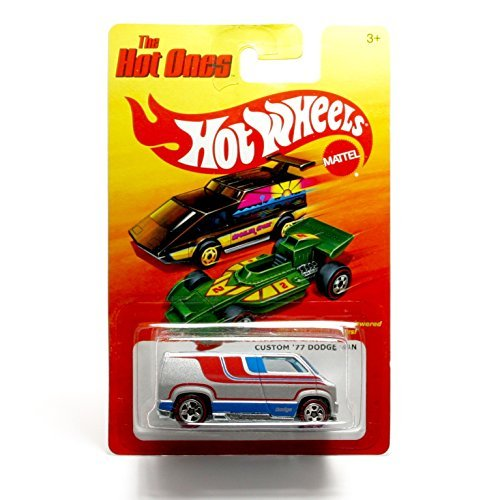 "CUSTOM '77 DODGE VAN (CHASE PIECE - LIMITED EDITION ""THE HOT ONES"" TIRES) * The Hot Ones * 2011 Release of the 80's Classic Series - 1:64 Scale Throw Back HOT WHEELS Die-Cast Vehicle - 1"