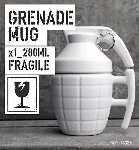 Creative glass Grenade Mug 280 ml, bianco