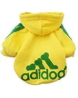 Demarkt® Fashion Sport Vêtements/ Veste/ Capuche/ Manteau pour Petit Chien et Chiot - Couleur Jaune (Beaucoup de Couleurs Disponibles)