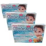 3 X Gluta 200000 /GLUTATHIONE -Super Aura Active White Plus Lemon C Berry Mix
