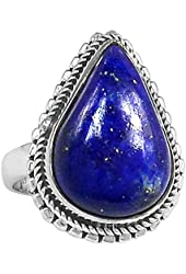 Xtremegems Lapis 925 Sterling Silver Ring Jewelry Size 6 713R