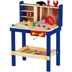 partner jouet a1102127 jeu d 39 imitation etabli bois jeux et jouets. Black Bedroom Furniture Sets. Home Design Ideas