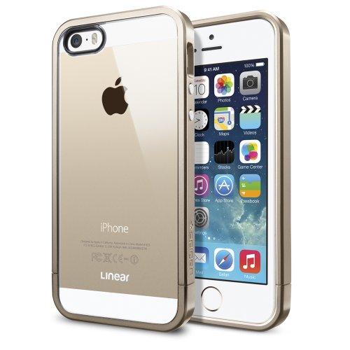 国内正規品SPIGEN SGP iPhone5/5S ケース リニア クリスタルシリーズ [シャンパンゴールド] SGP10615