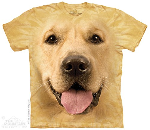 The Mountain Men's Big Face Golden T-Shirt, Yellow, Large
