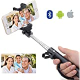Selfie Stick - Disph® Extendable Pole Bluetooth Self Shooting Monopod - Best Selfie Sticks on Amazon - Universal for Taking Self Portrait Selfy Shots on Iphone 6, Samsung Galaxy,android and All Other Bluetooth Enabled Devices (Black)