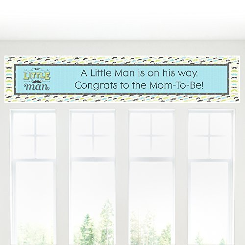Dashing Little Man Mustache Party - Baby Shower Decorations Party Banner (Dashing Little Man Baby Shower compare prices)