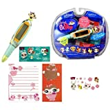Hasbro Year 2007 Littlest Pet Shop Digital Pen Series Virtual Game - MONKEY Digital Game Pen With 6