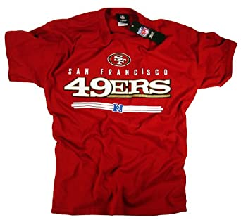 san francisco 49ers t shirt clothing apparel team logo nfl