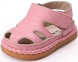 PPXID Infant Baby Boy\'s Girl\'s Sofe Leather Sandal Hollow Out shoes-Pink 3.5 US size