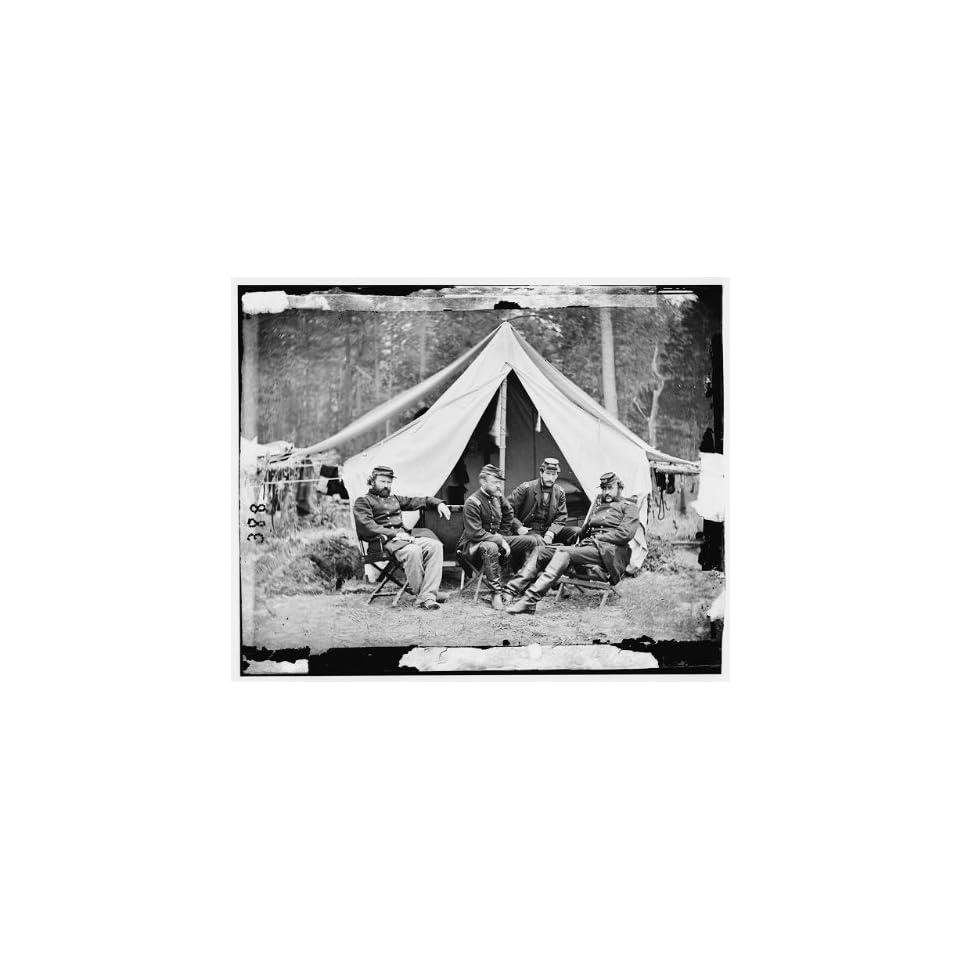 Photo The Peninsula,Virginia. Officers of General George B. McClellans staff