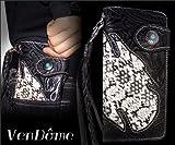 本牛革&本ヘビ皮使用 カービング型押し 二つ折り 長財布 ブラック モンタナパイソン 黒