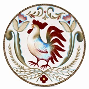 Fitz and Floyd Glennbrook 8.75-Inch Salad Plate with Rooster