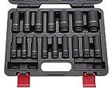 Kraft-Schlagschrauber-Nüsse 1/2″ 10-32 mm 16-tlg Steckschlüssel-Satz Schlagnuss
