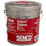 Senco 08F200Y Duraspin Number 8 by 2-Inch Subfloor Collated Screw (1,000 per Box)